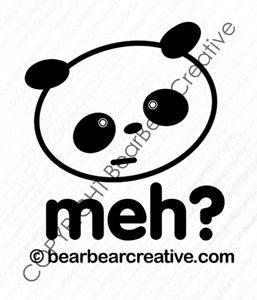 meh panda vinyl decal logo by BearBearCreative