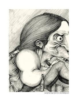 portrait of a insane woman..