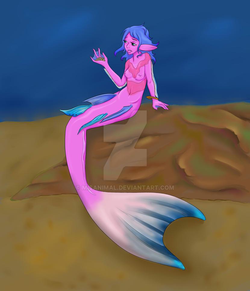Bored Mermaid by MisAnimal