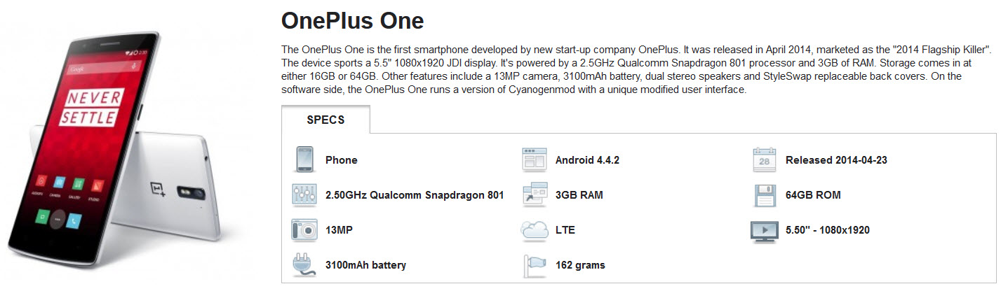 Best OnePlus One by Linux4SA