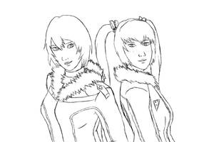Nomi and Yue - Fuzzy Collar Jackets