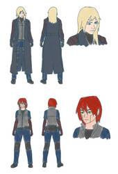 Azalea and Vorkten sketches by WaffleFoxAlpha