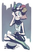sad pearl by HamsterParade