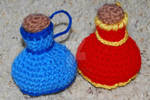 Crochet Potion Bottle Dice Bags