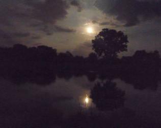 Moonlit Lake by mygreymatter