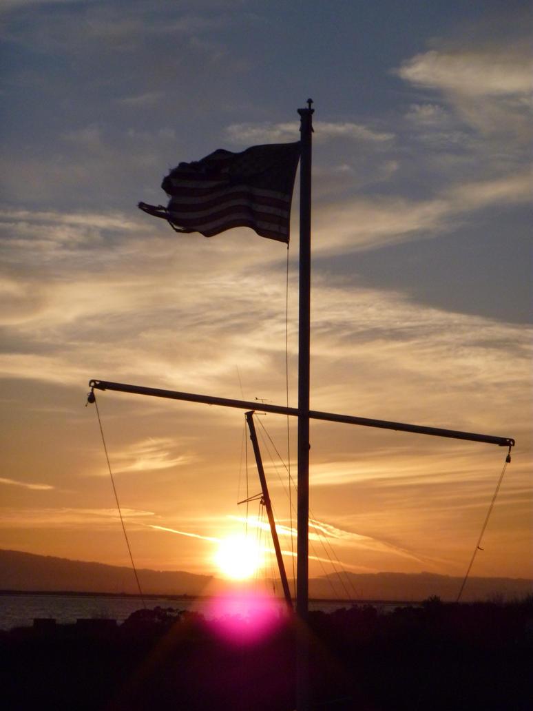 Sunset Flag by mygreymatter