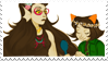 - Stamp: Feferi x Nepeta. - by ChicaTH