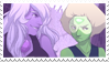 - Stamp: Amethyst x Peridot. - by ChicaTH
