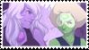 - Stamp: Amethyst x Peridot. - by ChicaTH