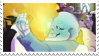 - Stamp: Grillby x Sans. - by ChicaTH
