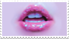 - Stamp: Glittery lips. - by ChicaTH