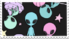 - Stamp: Pastel aliens. - by ChicaTH