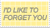 - Stamp: I'd like to forget you. - by ChicaTH