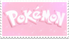- Stamp: Pink Pokemon logo. - by ChicaTH