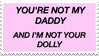- Stamp: And I'm not your dolly. - by ChicaTH