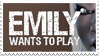 - Stamp: Emily Wants To Play. - by ChicaTH