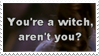 - Stamp: You're a witch, aren't you? - by ChicaTH