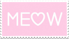 - Stamp: MEOW. - by ChicaTH