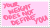 - Stamp: Your weight does not define you. - by ChicaTH