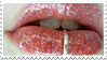 - Stamp: Pierced, glittery lips. - by ChicaTH