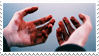 - Stamp: Bloody hands. - by ChicaTH