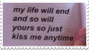 - Stamp: My life will end, and so will yours. - by ChicaTH