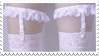 - Stamp: White thigh garters. - by ChicaTH