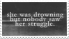 - Stamp: She was drowning... - by ChicaTH