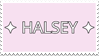 - Stamp: Halsey (Text). - by ChicaTH