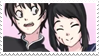 - Stamp: Senpai and Yandere-chan. - by ChicaTH