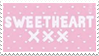 - Stamp: Sweetheart. - by ChicaTH