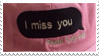 - Stamp: I miss you. - by ChicaTH