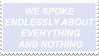 - Stamp: We spoke endlessly... - by ChicaTH