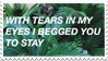 - Stamp: With tears in my eyes I begged you... - by ChicaTH