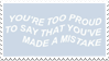 - Stamp: You're too proud... - by ChicaTH