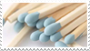 - Stamp: Blue matchsticks. - by ChicaTH