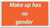 - Stamp: Make up has no gender. - by ChicaTH