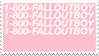 - Stamp: 1-800-FALLOUTBOY. - by ChicaTH