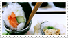 - Stamp: Sushi dipped in soy sauce. - by ChicaTH
