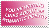- Stamp: You're writing lines about me... - by ChicaTH