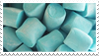 - Stamp: Blue marshmallows. - by ChicaTH