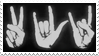- Stamp: Peace, love, rock 'n' roll. - by ChicaTH