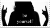 - Stamp: Be yourself. - by ChicaTH