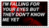 - Stamp: I'm falling for your eyes... - by ChicaTH