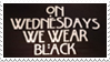 - Stamp: On Wednesdays, we wear Black. - by ChicaTH