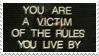 - Stamp: Victim of the rules you live by. - by ChicaTH