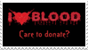 - Stamp: I love blood, care to donate? - by ChicaTH
