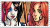 - Stamp: Poison Ivy x Harley Quinn (6). - by ChicaTH
