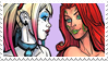 - Stamp: Poison Ivy x Harley Quinn (9). - by ChicaTH