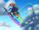 Commission - Rainbow Dash in the Sky